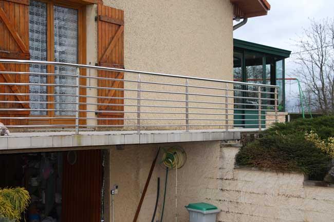 Barriére inox balcon viriville