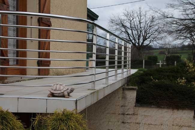 Barriére balcon inox viriville
