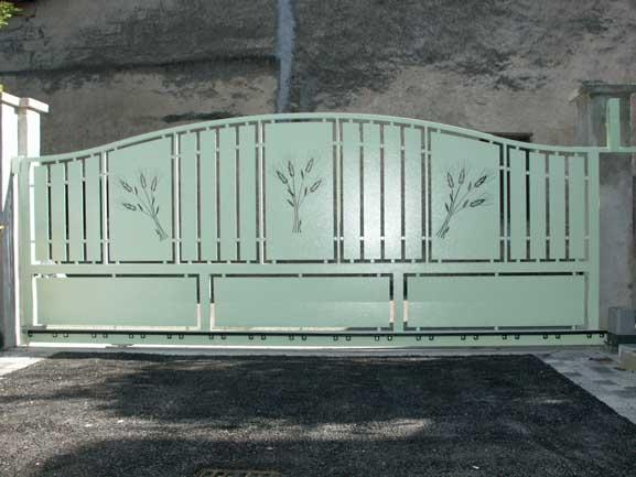 Portail acier Izeaux