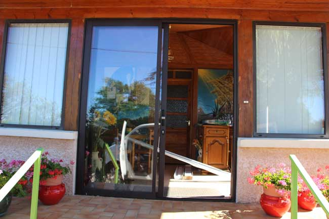 Porte fenêtre aluminium - St Jean de Bournay