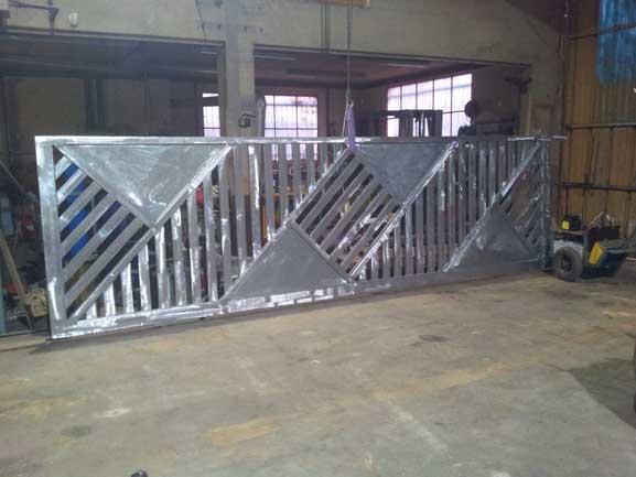 Portail acier galvanisé plastifié châtenay